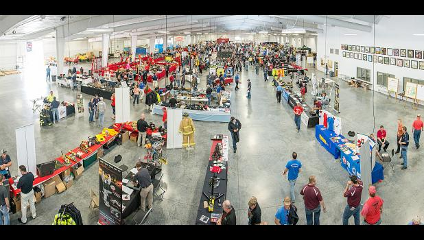 The 2015 Nebraska Fire School drew 1,150 students to Grand Island. Pictured is a look down at the vendor area. This year's Fire School is May 20-22.  Photo by Taylor Anderson, Taylor Anderson Designs.