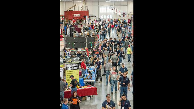 A view of the vendor area after Fire School classes were released Friday afternoon. Photo by Taylor Anderson.