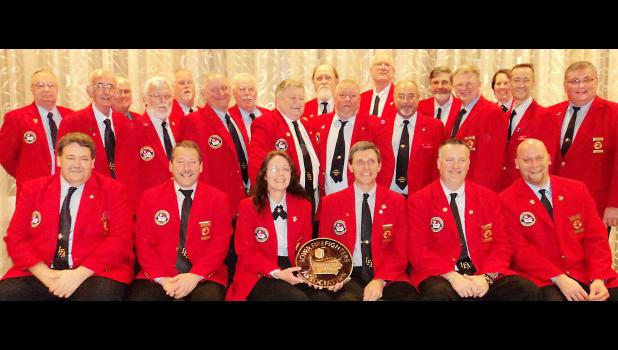Past officers and current board members of the IFA include, front row (l to r): 3rd vice-president Jim Shutts, 2nd vice-president Marv Trimble, Executive Director Wendy Lensing, President Mark McNees, 1st vice-president Bill Halleran and 5th vice-president Nick Riley. Second row: Paul Schellhase, Tom Campbell, Joe Specht, Bob Platz, John Dvorak, Jeff Gore, Al Esch, Brian Platz and Roger Bissen. Back row: Mike Reuman, Jack Runge, Dave Zimple, Rusty Hockman, Don Scott, Kirk Rice, Cliff Renslow and Ellen Hagen